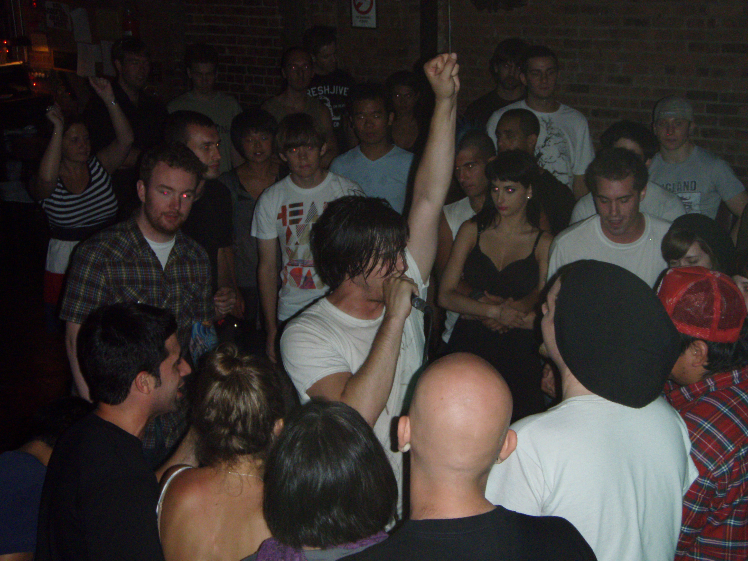 "Eyedea in the crowd at The Mercury Lounge, New York City, NY (photo also used as the cover for the ""Freestyles"" EP)"
