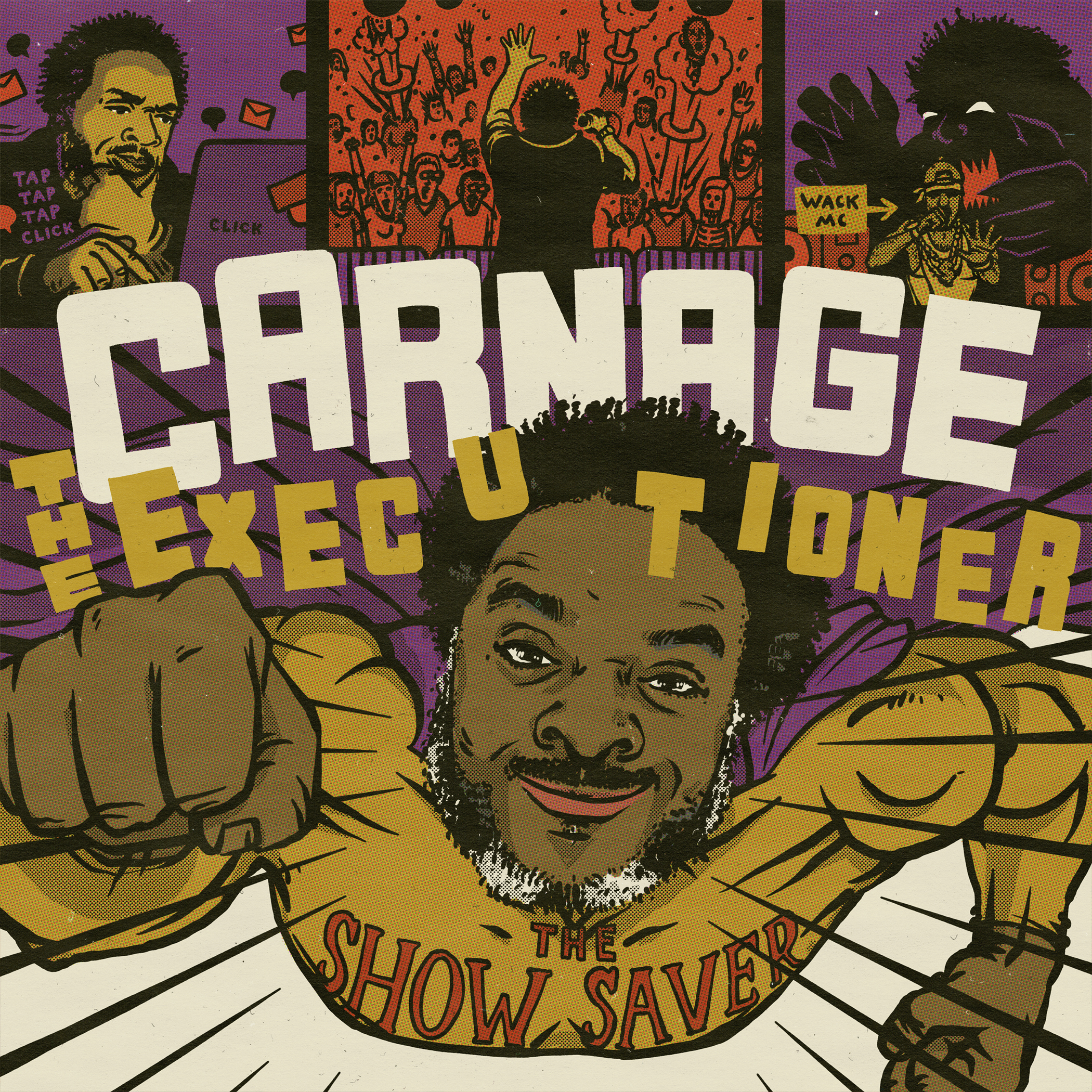 carnage-the-executioner-the-show-saver-art-7-inch-vinyl-cover-1-front